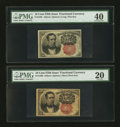 Fractional Currency:Fifth Issue, Fr. 1265 10¢ Fifth Issue PMG Extremely Fine 40;. Fr. 1266 10¢ FifthIssue PMG Very Fine 20.. ... (Total: 2 notes)