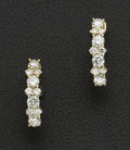 Estate Jewelry:Earrings, Superb Diamond & Gold Earrings. ...
