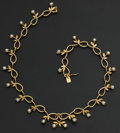 Estate Jewelry:Necklaces, Gold & Pearl Necklace. ...