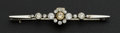 Estate Jewelry:Brooches - Pins, Exceptional Antique Diamond & Gold Bar Pin. ...