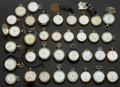 Timepieces:Pocket (post 1900), Thirty Five Miscellaneous American Pocket Watches. ... (Total: 35Items)