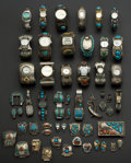 Timepieces:Wristwatch, A Lot of Twenty Silver & Turquoise Banded Wristwatches & Band Links. ... (Total: 20 Items)