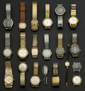 Timepieces:Wristwatch, A Lot Of Twenty Assorted Vintage Swiss Wristwatches. ... (Total: 20 Items)