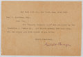 Autographs:Authors, Gelett Burgess (1866-1951, San Francisco author, artist, and artcritic). Typed Letter Signed. Very good....