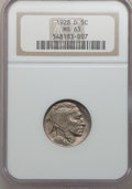Buffalo Nickels: , 1928-D 5C MS63 NGC. NGC Census: (338/1022). PCGS Population(513/1647). Mintage: 6,436,000. Numismedia Wsl. Price for probl...