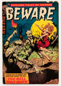 Golden Age (1938-1955):Horror, Beware #10 (Trojan/Prime, 1954) Condition: VG....