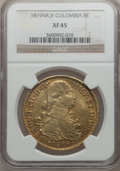 Colombia, Colombia: Ferdinand VII gold 8 Escudos 1819NR-JF,...