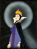 "Animation Art:Production Cel, Snow White and the Seven Dwarfs ""Wicked Queen"" CourvoisierProduction Cel Animation Art (Walt Disney, 1937)...."