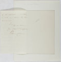 Autographs:Artists, Sir William Collins (1862-1951, English landscape painter).Autograph Letter Signed. Very good....
