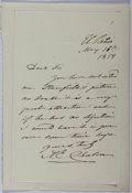 Autographs:Artists, Alfred Edward Chalon (1780-1860, English painter of the RoyalAcademy noted for his portraits of Queen Victoria). Autograph Le...