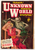 Golden Age (1938-1955):Horror, Unknown World #1 (Fawcett Publications, 1952) Condition: VG....