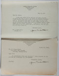 Autographs:Authors, James Truslow Adams (1878-1949, American writer and historian). Typed Letter Signed. Very good condition....