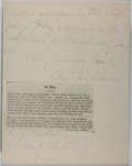 Autographs:Authors, Oscar Fay Adams (1855-1919, American author and editor). Autograph Letter Signed. Very good condition....