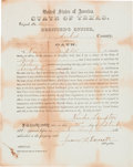 """Autographs:Military Figures, """"Colored Voter"""" Registration and Oath Signed..."""