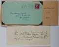 Autographs:Celebrities, Hobart Bosworth (1867-1943, American actor, writer and producer).Autograph Note Signed. Very good with the original transmi...