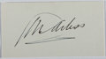 Autographs:Authors, George Arliss (1868-1946, British actor, playwright, and filmmaker). Signed Autograph Card. Very good in original transmitt...