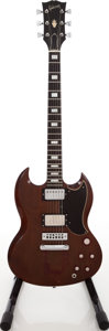 Musical Instruments:Electric Guitars, Circa 1971 Gibson SG Walnut Solid Body Electric Guitar, Serial #102596....