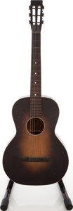Musical Instruments:Amplifiers, PA, & Effects, 1930s-1940s Oahu Sunburst Parlor Guitar....