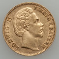 German States:Bavaria, German States: Bavaria. Ludwig II gold 10 Marks 1875D,...