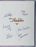 Books:Art & Architecture, [Walt Disney]. CREW SIGNED. Aladdin. Hyperion, 1992. First edition, first printing. Signed by both directors and f...