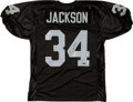 Football Collectibles:Uniforms, Bo Jackson Signed Los Angeles Raiders Jersey....