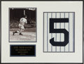 Baseball Collectibles:Photos, Joe DiMaggio Signed Photograph Display....
