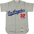 Baseball Collectibles:Uniforms, Sandy Koufax Signed Los Angeles Dodgers Jersey....