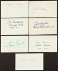 Baseball Collectibles:Others, Cardinals Greats Signed Index Cards Lot of 7....