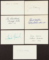 Cardinals Greats Signed Index Cards Lot of 7