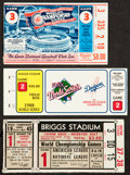 Baseball Collectibles:Tickets, 1945-88 World Series Ticket Stubs Lot of 3....