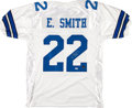 Football Collectibles:Uniforms, Emmitt Smith Signed Dallas Cowboys Jersey....