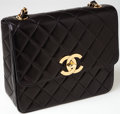 Luxury Accessories:Bags, Chanel Black Lambskin Leather Jumbo Flap Bag with Gold Hardware....