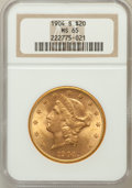 Liberty Double Eagles: , 1904-S $20 MS65 NGC. NGC Census: (282/1). PCGS Population (174/2).Mintage: 5,134,175. Numismedia Wsl. Price for problem fr...