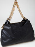 Luxury Accessories:Bags, Chanel Black Lambskin Leather Rodeo Drive Hobo Bag with GoldHardware. ...