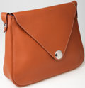 Luxury Accessories:Bags, Heritage Vintage: Hermes Light Brown Clemence Leather ChristineMessenger Bag. ...