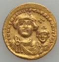 Ancients:Byzantine, Ancients: Heraclius, with Heraclius Constantine (AD 610-641). AVsolidus (4.47 gm)....