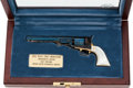 Handguns:Single Action Revolver, Boxed and Cased Engraved Miniature Colt Model 1851 Navy Percussion Revolver....