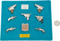 Handguns:Target / Single Shot Pistol, Lot of Seven Assorted Austrian Miniature Pistols and Six Pin-Fire Cartridges. . ...