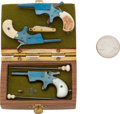 Handguns:Target / Single Shot Pistol, Lot of Three Assorted Miniature Pistols and One Miniature PocketKnife....
