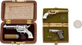 Handguns:Single Action Revolver, Lot of Three Assorted Miniature Pistols.... (Total: 2 Items)