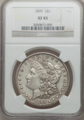 Morgan Dollars: , 1899 $1 XF45 NGC. NGC Census: (37/7923). PCGS Population(85/10505). Mintage: 330,846. Numismedia Wsl. Price for problemfr...