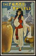 """Movie Posters:Miscellaneous, The Forty Thieves (c. 1900). London Theatrical Poster (18.75"""" X 29.75"""")...."""