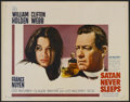 "Movie Posters:Drama, Satan Never Sleeps (20th Century Fox, 1962). Half Sheet (22"" X28""). Drama. ..."