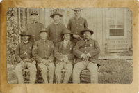 Imperial Size Photograph of Seven Indian Police with Badges ca 1890s