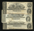 Confederate Notes:1863 Issues, T58 $20 1863 Three Examples.. . ... (Total: 3 notes)