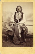 Photography:Cabinet Photos, W. S. Soule, Photograph of Indian Kiowa Brave ca 1870s....