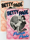 Magazines:Miscellaneous, Miscellaneous - Betty Page Private Peeks #2 and 4 Group (BelierPress, 1979-80) Condition: Average VG/FN.... (Total: 2 Comic Books)