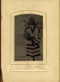 Photography:Tintypes, RARE HAND-TINTED TINTYPE OF YOUNG NEZ PERCE UNDER CHIEF. Taken circa 1875 by an unidentified photographer, Young under Chief... (Total: 1 Item)