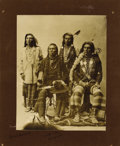 Photography:Cabinet Photos, Imperial Size Photograph of Four Nez Perce Indians, ca. 1890s....