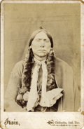 Photography:Cabinet Photos, IRWIN CABINET CARD OF CHIEF QUANAH PARKER, ca 1890s. Bust image ofQuanah Parker, the last Comanche Chief, Quanah Parker, in...(Total: 1 Item)